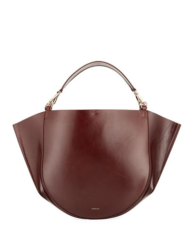 Mia Calf Leather Tote Bag