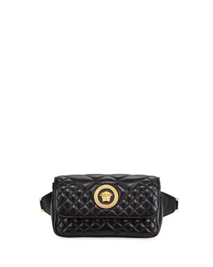 1525345637bb Versace Icon Quilted Lather Micro Belt Bag
