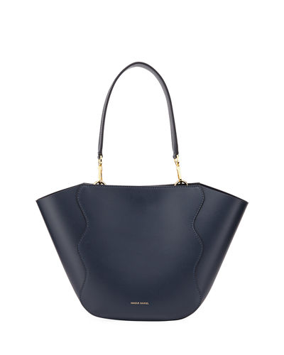 Mini Ocean Calf Leather Tote Bag