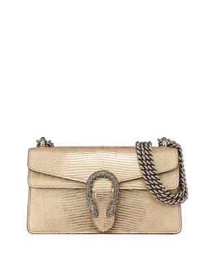 c934455087fcd5 Gucci Dionysus Small Metallic Lizard Shoulder Bag