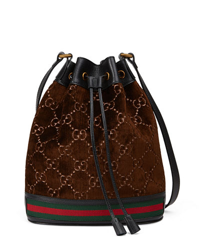 GG Velvet Bucket Bag