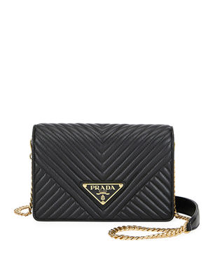 2ac898e679e Prada Diagramme Small Crossbody Bag w/ Removable Strap