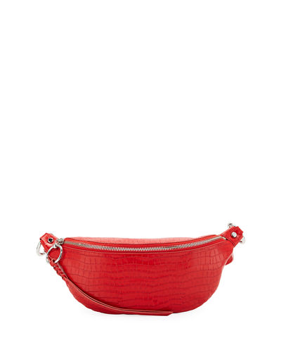 Bree Croco Leather Belt Bag