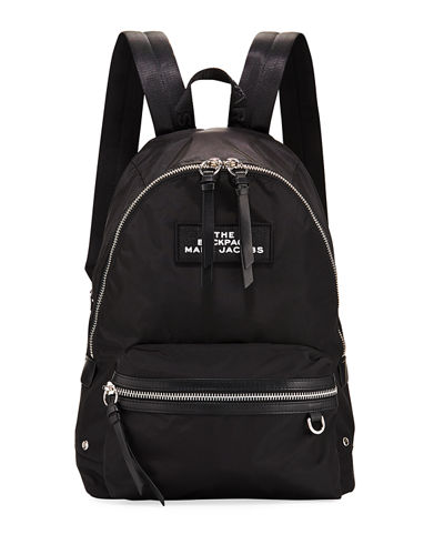 Large Nylon Dual-Zip Backpack Bag