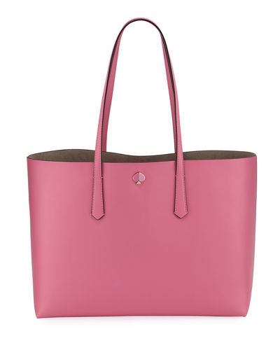 molly large leather tote