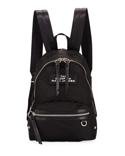 Medium Nylon Dual-Zip Backpack Bag
