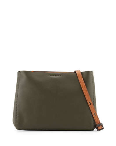 Passenger Two-Tone Leather Crossbody Bag