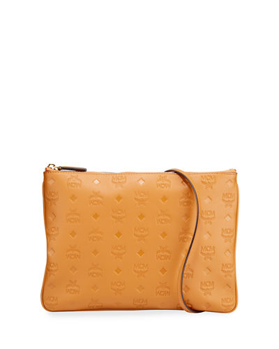 Klara Medium Monogrammed Leather Clutch Bag