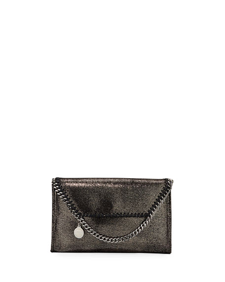 Stella McCartney Falabella Mini Shiny Chamois Wallet on Chain