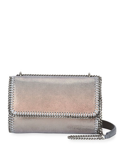 Falabella Metallic Flap-Top Shoulder Bag