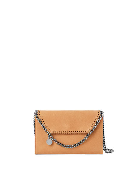 Image 1 of 4: Stella McCartney Falabella Mini Shaggy Deer Wallet on Chain