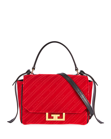 Givenchy Eden Lasered Velvet Crossbody Mini Bag