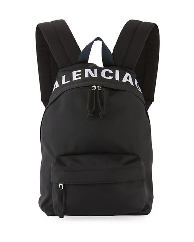 Wheel Small Nylon Logo Backpack Bag