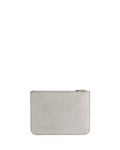 Balenciaga Everyday Glittered Calfskin Medium Pouch