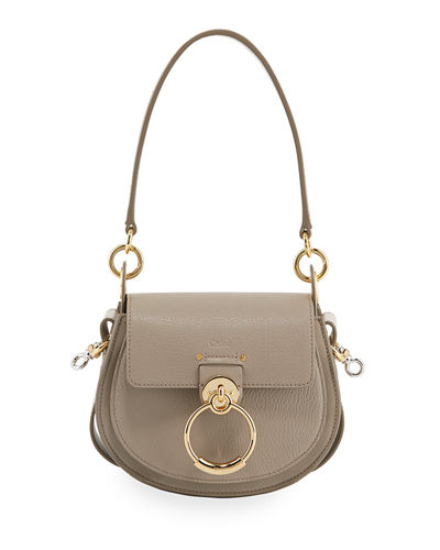 Tess Small Grained Leather Crossbody Bag