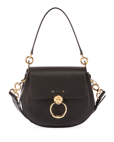 Chloe Tess Medium Grained Crossbody Bag