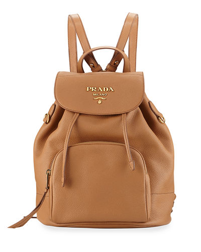 Daino Leather Drawstring Backpack