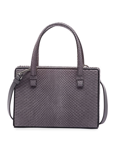 Postal Python Top-Handle Bag
