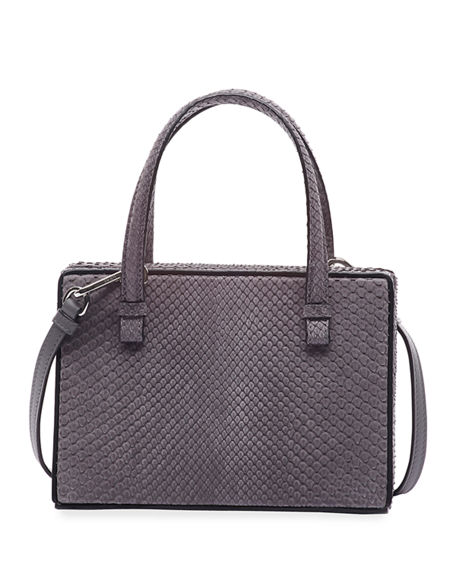 Loewe Postal Python Top-Handle Bag