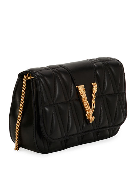 Image 4 of 5: Versace Quilted Napa Shoulder Bag