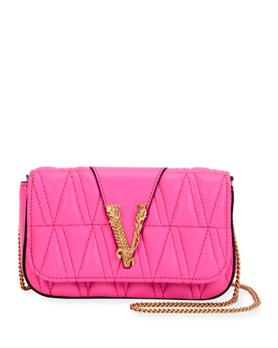 Versace Quilted Napa Shoulder Bag