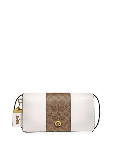 Dinky Coated Canvas Signature Crossbody Bag