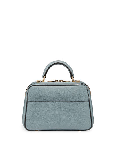 Saffiano Small Top-Handle Boxy Bag