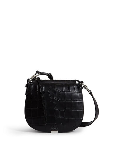 Polly Small Croc-Embossed Crossbody Bag