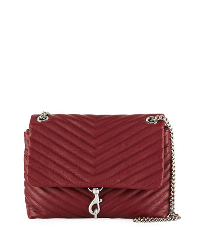 Edie Quilted Flap Shoulder Bag