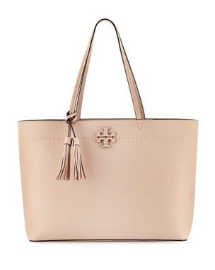 df5f6138b81ea5 Tory Burch McGraw Pebbled Leather Tote Bag
