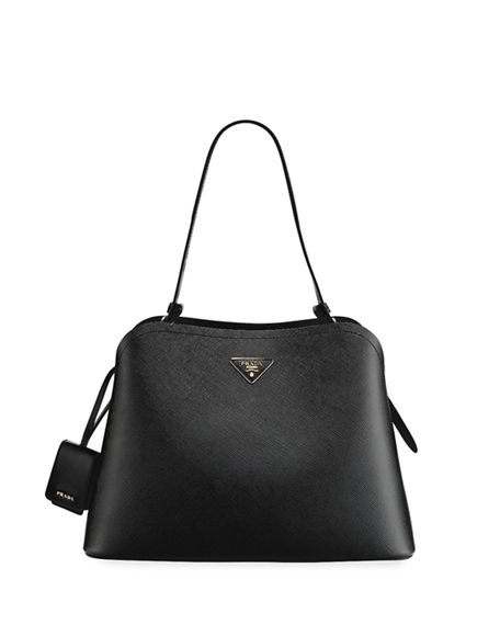 Prada Large Matinee Top-Handle Tote w/ Removable Crossbody Strap