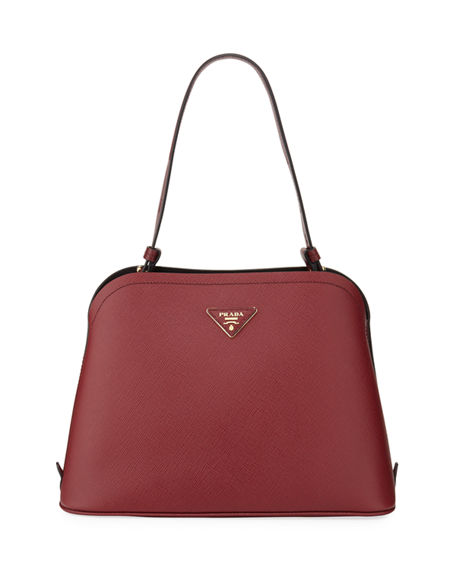 Prada Small Matinee Top-Handle Tote w/ Removable Crossbody Strap