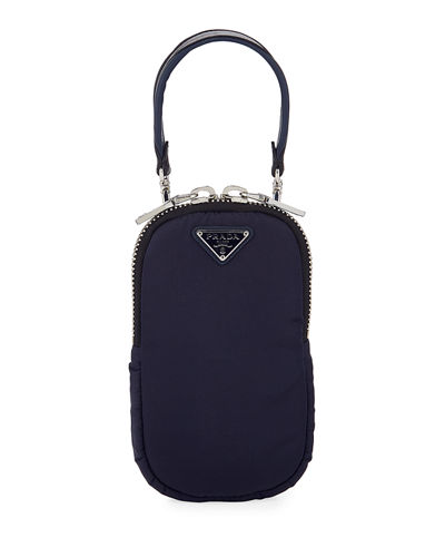 Nylon Cargo Mini Bag w/ Top Handle & Removable Crossbody Strap