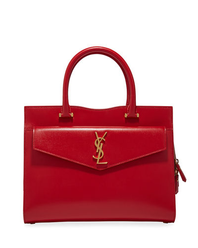 Uptown Medium YSL Leather Satchel Bag