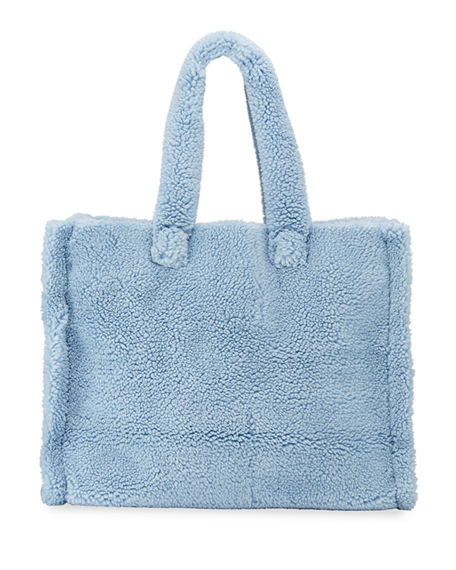 STAND Lola Large Teddy Faux-Fur Tote Bag