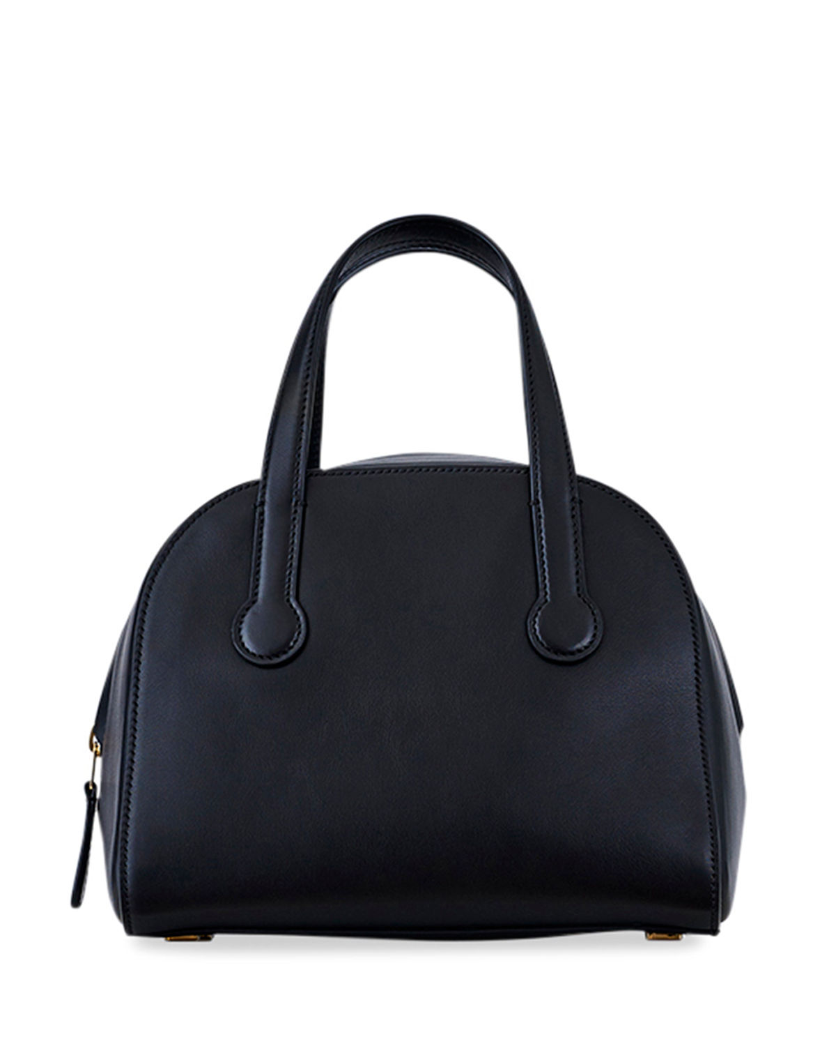 Sporty Bowler 9 Smooth Leather Top Handle Bag