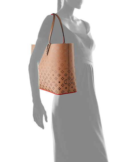 Image 4 of 4: Christian Louboutin Cabata Loubinthesky Red Sole Tote Bag