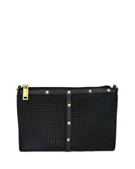Whiting & Davis Nouveau Studded Crossbody Bag
