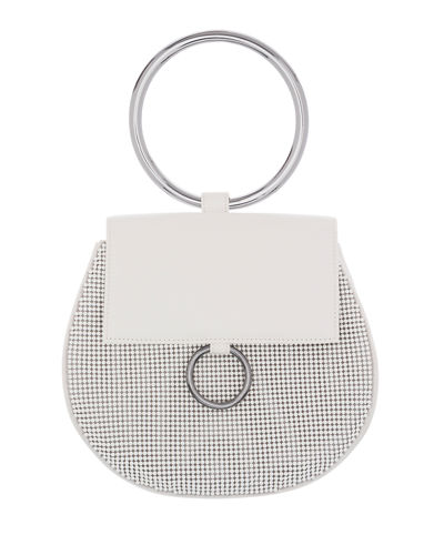 Bubble Mesh Saddle Satchel Bag