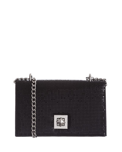 Flat Structured Mesh Clutch Bag