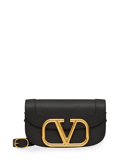 Valentino Garavani SuperVee Smooth Leather Shoulder Bag