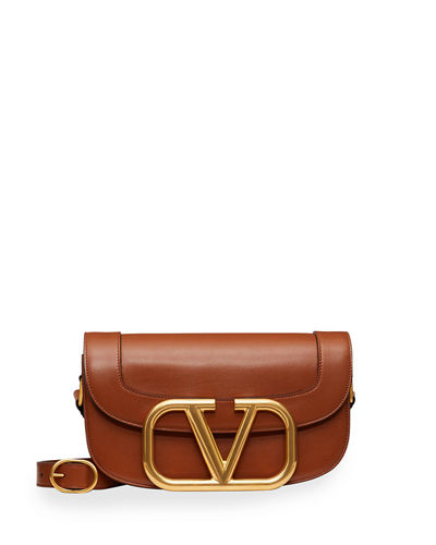 SuperVee Smooth Leather Shoulder Bag