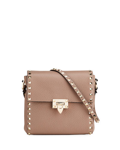 Valentino Garavani Rockstud Vitello Leather Shoulder Bag