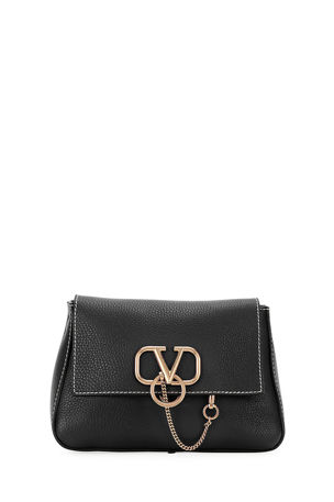 Valentino Garavani VRING Small Vitello St. Alce Shoulder Bag
