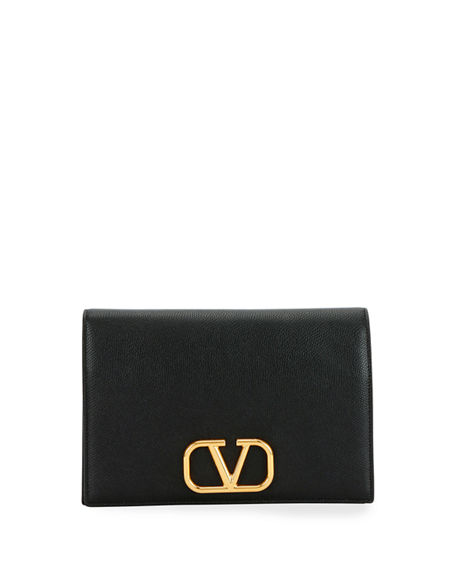 Valentino Garavani VLOGO Medium Soft Vitello Leather Wallet