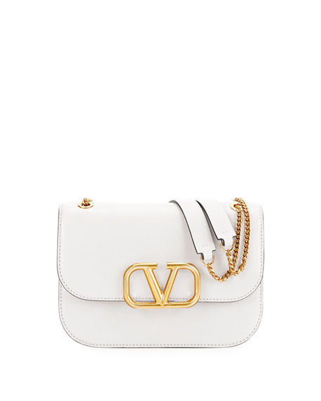 Valentino Garavani VLOCK Buffalo Leather Shoulder Bag