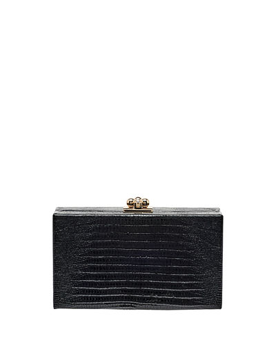 Jean Lizard Framed Box Clutch Bag