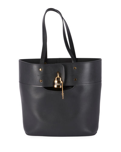 Aby Medium Lock-and-Key Tote Bag