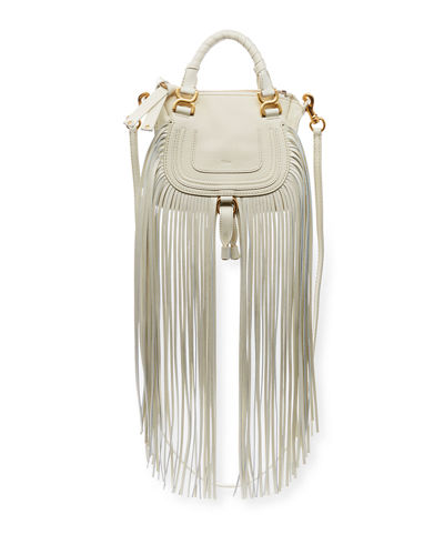 Marcie Mini Fringe Double-Carry Satchel Bag