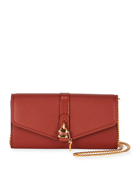 Image 1 of 3: Chloe Aby Long Flap Wallet on Chain